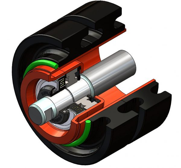 RUBBER RING IMPACT ROLL CUTAWAY
